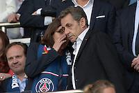 Anne Hidalgo / Nicolas Sarkozy - 23.05.2015 - PSG / Reims - 38eme journee de Ligue 1<br />Photo : Andre Ferreira / Icon Sport