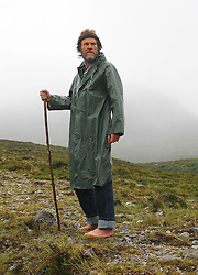 ' Mountain Man ' Padraig O Duinnin from Macroom Co Cork climbed Croagh Patrick barefoot...Pic Conor McKeown