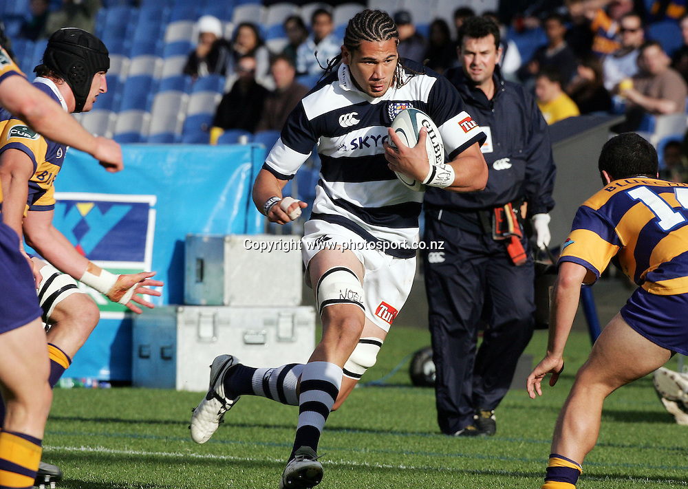 Kurtis Haiu in action during the Air NZ Cup rugby match between Auckland and Bay of Plenty at Eden Park, Auckland, New Zealand on 7 October, 2006. Auckland won the match 47 - 14. Photo: Hannah Johnston/PHOTOSPORT<br />