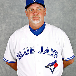 March 2, 2012; Dunedin, FL, USA; Toronto Blue Jays pitching coach Bruce Walton (53) poses for a portrait during photo day at Florida Auto Exchange Stadium.  Mandatory Credit: Derick E. Hingle-US PRESSWIRE