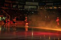 KELOWNA, CANADA - DECEMBER 29: The Kelowna Rockets enter the ice against the Kamloops Blazers  on December 29, 2018 at Prospera Place in Kelowna, British Columbia, Canada.  (Photo by Marissa Baecker/Shoot the Breeze)