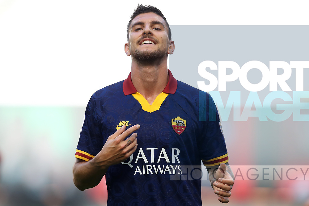 AS Roma's Italian midfielder Lorenzo Pellegrini reacts during the Serie A match at Giuseppe Meazza, Milan. Picture date: 28th June 2020. Picture credit should read: Jonathan Moscrop/Sportimage