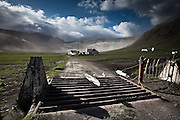 The farm Selkot was abandoned due to massive ash from the erupting volcano in Eyjafjallajökull, south Iceland 2010
