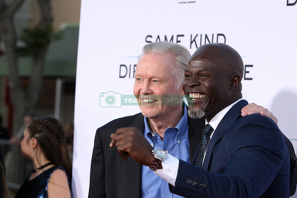 "Jon Voight, Djimon Hounsou at the Paramount Pictures And Pure Flix Entertainment's ""Same Kind Of Different As Me"" Premiere held at the Westwood Village Theatre on October 12, 2017 in Westwood, California, USA (Photo by Art Garcia/Sipa USA)"
