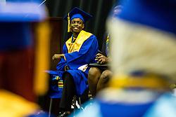 Salutatorian Carmi Thomas.  Charlotte Amalie High School 85th Annual Commencement Program at UVI Sports and Fitness Center.  14 June 2015.  © Aisha-Zakiya Boyd