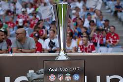 August 2, 2017 - Munich, Germany - The trophy Audi Cup during the Audi Cup soccer match between FC Bayern Munich and SSC Napoli at the Allianz Arena in Munich, Germany on August 02, 2017. (Credit Image: © Paolo Manzo/NurPhoto via ZUMA Press)