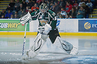 KELOWNA, CANADA - DECEMBER 30: Daniel Cotton #31 of the Everett Silvertips marks up the ice at the start of third period at the Kelowna Rockets on December 30, 2012 at Prospera Place in Kelowna, British Columbia, Canada (Photo by Marissa Baecker/Shoot the Breeze) *** Local Caption ***