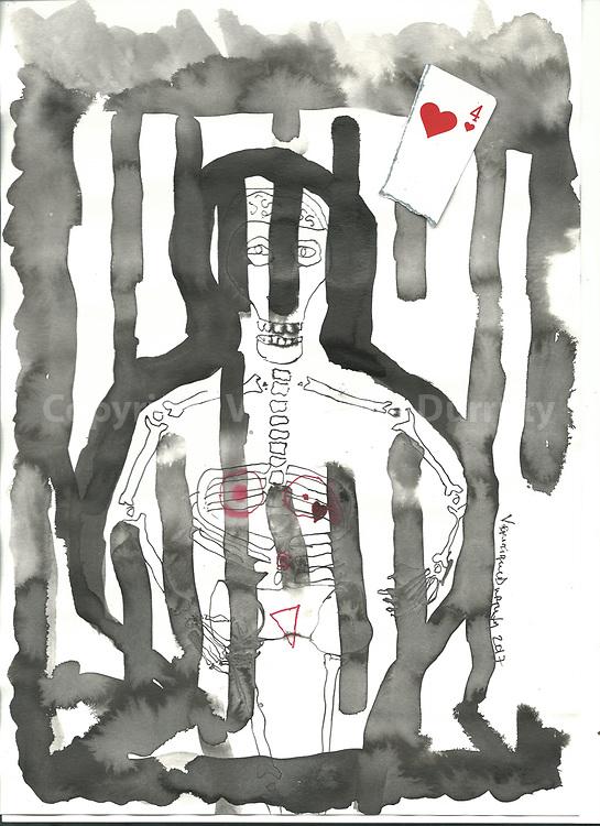 technique mixte<br /> 20 cm x 30 cm environ<br /> V&eacute;ronique Durruty, 2017