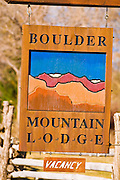 The Boulder Mountain Lodge in Boulder, Grand Staircase-Escalante National Monument, Utah