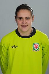 TREFOREST, WALES - Tuesday, February 14, 2011: Wales' goalkeeper Rhian Nokes. (Pic by David Rawcliffe/Propaganda)