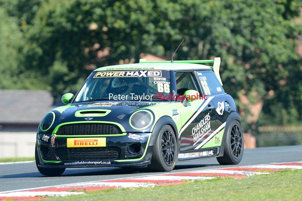 #66 Steve Ruxton-Cocker Mini JWC during Power Maxed Mini Challenge - F56/JCW - Qualifying  as part of the Mini Festival  at Oulton Park, Little Budworth, Cheshire, United Kingdom. August 08 2015. World Copyright Peter Taylor. Copy of publication required for printed pictures.  Every used picture is fee-liable. http://archive.petertaylor-photographic.co.uk