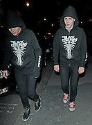 04.MAY.2010.   LONDON<br /> <br /> X-FACTOR TWINS JOHN AND EDWARD GRIMES AKA JEDWARD ESCAPE FROM THERE LONDON HOTEL AND ARE SPOTTED WALKING ROUND SOHO DRESSED IN THE SAME HOODYS.<br /> <br /> *THIS IMAGE IS STRICTLY FOR UK NEWSPAPERS & MAGAZINES ONLY* <br /> *FOR WORLDWIDE SALES OR WEB USE PLEASE CONTACT EDBIMAGEARCHIVE - 0208 954 5968*