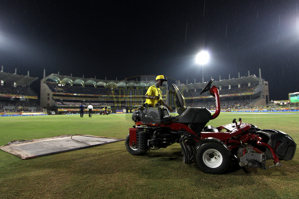 Rain during match 21 of the Pepsi Indian Premier League Season 2014 between the Chennai Superkings and the Kolkata Knight Riders  held at the JSCA International Cricket Stadium, Ranch, India on the 2nd May  2014<br /> <br /> Photo by Deepak Malik / IPL / SPORTZPICS<br /> <br /> <br /> <br /> Image use subject to terms and conditions which can be found here:  http://sportzpics.photoshelter.com/gallery/Pepsi-IPL-Image-terms-and-conditions/G00004VW1IVJ.gB0/C0000TScjhBM6ikg