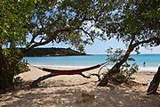 Hammock on La Playuela beach at Cabo Rojo wildlife preserve Puerto Rico