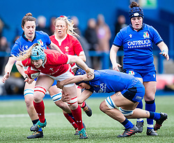 Gwen Crabb of Wales<br /> <br /> Photographer Simon King/Replay Images<br /> <br /> Six Nations Round 1 - Wales Women v Italy Women - Saturday 2nd February 2020 - Cardiff Arms Park - Cardiff<br /> <br /> World Copyright © Replay Images . All rights reserved. info@replayimages.co.uk - http://replayimages.co.uk