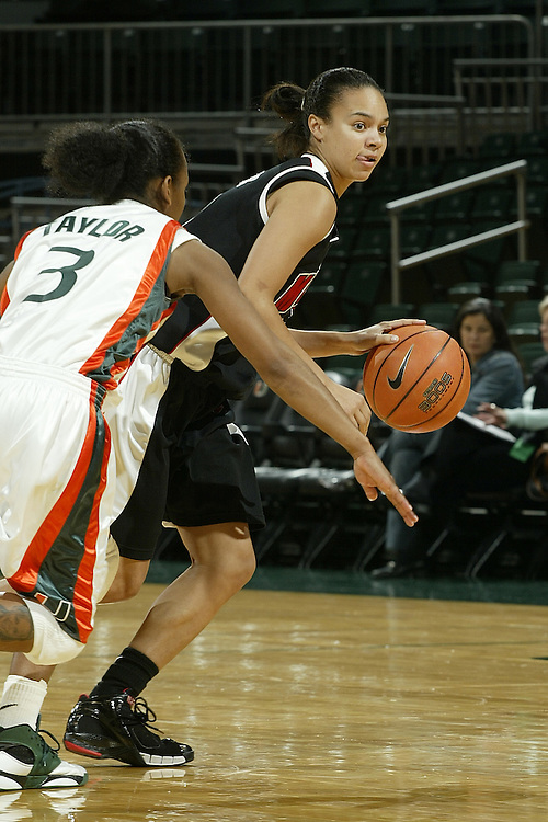 University of Maryland guard Kristi Toliver in action during the Terrapins 111-53 victory over the Miami Hurricanes on January 10, 2007 at the BankUnited Center in Coral Gables, Florida.