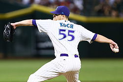 June 14, 2018 - Phoenix, AZ, U.S. - PHOENIX, AZ - JUNE 14: Arizona Diamondbacks starting pitcher Matt Koch (55) pitches during the MLB baseball game between the Arizona Diamondbacks and the New York Mets on June 14, 2018 at Chase Field in Phoenix, AZ (Photo by Adam Bow/Icon Sportswire) (Credit Image: © Adam Bow/Icon SMI via ZUMA Press)