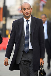 © Licensed to London News Pictures. 15/11/2018. London, UK. Labour MP and Remain campaigner CHUKA UMUNNA is seen in Westminster the day after Cabinet agreed to back Prime Minister Theresa May's deal on Brexit. Photo credit: Ben Cawthra/LNP