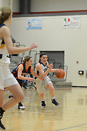 New Hope Solebury's Bella Devito (25) drives towards the basket as Riverside's Natalie Sottile (5) defends in the first quarter Saturday, March 11, 2017 at Upper Dublin High School in Ft. Washington, Pennsylvania. (Photo by William Thomas Cain)