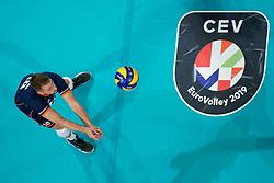 21-09-2019 NED: EC Volleyball 2019 Netherlands - Germany, Apeldoorn<br /> 1/8 final EC Volleyball / Robbert Andringa #18 of Netherlands, centercourt CEV