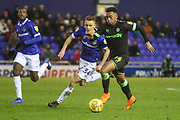 Forest Green Rovers Tahvon Campbell(14) runs forward during the EFL Sky Bet League 2 match between Oldham Athletic and Forest Green Rovers at Boundary Park, Oldham, England on 12 January 2019.
