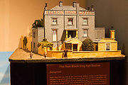 Model of the Real Black Dog Halt Station with permission of Chippenham museum, Wiltshire, England, UK