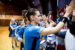 Alja Koren of RK Krim Mercator celebrates after the handball match between RK Krim Mercator and ZRK Z'Dezele Celje in Last Round of Slovenian National Championship 2016/17, on April 18, 2017 in Arena Galjevica, Ljubljana, Slovenia. Photo by Vid Ponikvar / Sportida