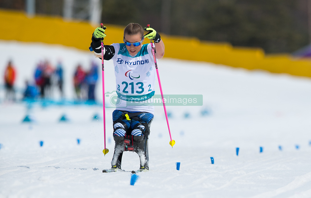 March 17, 2018 - Pyeongchang, South Korea - Oksana Masters on her way to a gold medal finish in the 5km Cross Country event Saturday, March 17, 2018 at the Alpensia Biathlon Center at the Pyeongchang Winter Paralympic Games. Photo by Mark Reis (Credit Image: © Mark Reis via ZUMA Wire)