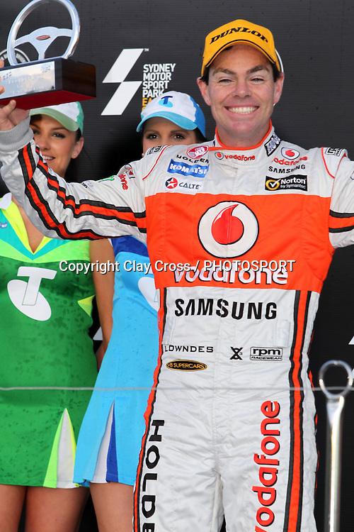 Craig Lowndes (TeamVodafone Holden). Sydney Motorsport Park 360 ~ Race 19 2012 V8 Supercar Championship Series. Sydney Motorsport Park, Sydney on Sunday 26 August 2012. Photo: Clay Cross / photosport.co.nz