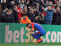 Football - 2018 / 2019 Premier League - Crystal Palace vs. West Ham United<br /> <br /> James McArthur of Palace shares his frustration with his fans after missing an open goal, at Selhurst Park.<br /> <br /> COLORSPORT/ANDREW COWIE