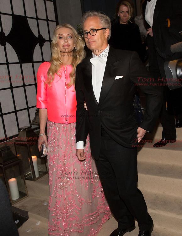 OSLO,  20140301: Jan Haudeman Andersen og Marthe Krogh giftet seg i fra Ris kirke. Masse kjendis- og finansvenner var tilstede. .  FOTO: TOM HANSEN