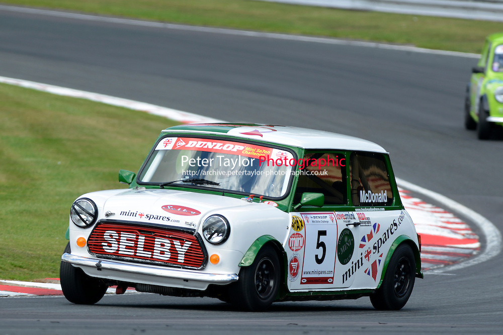 #5 Kieren McDonald Mini 7 during Mini Se7en - Race 1  as part of the Mini Festival  at Oulton Park, Little Budworth, Cheshire, United Kingdom. August 08 2015. World Copyright Taylor/PSP. Copy of publication required for printed pictures.  Every used picture is fee-liable. http://archive.petertaylor-photographic.co.uk