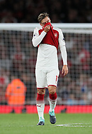 Arsenal's Mesut Ozil looks on dejected during the premier league match at the Emirates Stadium, London. Picture date 11th August 2017. Picture credit should read: David Klein/Sportimage