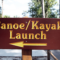 Canot and kayak launch signage along the William Bartram Scenic Highway in Florida.(AP Photo/Alex Menendez) Florida scenic highway photos from the State of Florida. Florida scenic images of the Sunshine State.