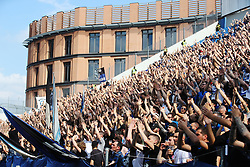 """Foto LaPresse/Filippo Rubin<br /> 11/05/2019 Reggio Emilia (Italia)<br /> Sport Calcio<br /> Atalanta - Genoa - Campionato di calcio Serie A 2018/2019 - Stadio """"Mapei Stadium""""<br /> Nella foto: I TIFOSI DELL'ATALANTA<br /> <br /> Photo LaPresse/Filippo Rubin<br /> May 11, 2019 Reggio Emilia (Italy)<br /> Sport Soccer<br /> Atalanta vs Genoa - Italian Football Championship League A 2018/2019 - """"Mapei stadium"""" Stadium <br /> In the pic: ATALANTA SUPPORTERS"""