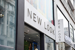 © Licensed to London News Pictures. 13/06/2018. LONDON, UK.  The exterior of the New Look store near Oxford Circus.  The New Look fashion chain has incurred an annual loss of nearly £235m. with sales down 12% to £1.3bn in the year to 24 March.  The company has launched a company voluntary arrangement (CVA), to save property rental costs and restructure with up to 60 of its 593 stores, including the one near Oxford Circus, expected to close.  House of Fraser, recently announced that its Oxford Street flagship will close, also as part of CVA restructuring plan. Photo credit: Stephen Chung/LNP