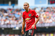 Manchester United Women midfielder Jackie Groenen (14) during the FA Women's Super League match between Manchester City Women and Manchester United Women at the Sport City Academy Stadium, Manchester, United Kingdom on 7 September 2019.