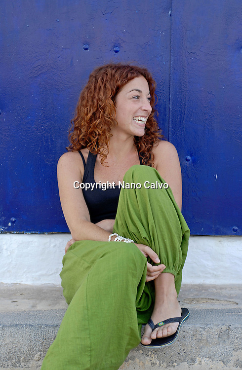MR Portrait of a cute red haired girl in her twenties, Ibiza, Spain