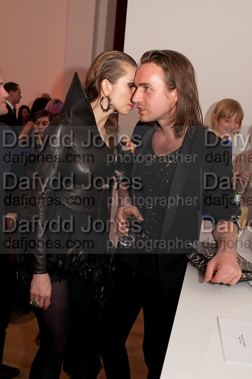 MALGOSIA STEPNIK; KRISTIAN AADNEVIK, TODÕS Art Plus Drama Party 2011. Whitechapel GalleryÕs annual fundraising party in partnership with TODÕS and supported by HarperÕs Bazaar. Whitechapel Gallery. London. 24 March 2011.  -DO NOT ARCHIVE-© Copyright Photograph by Dafydd Jones. 248 Clapham Rd. London SW9 0PZ. Tel 0207 820 0771. www.dafjones.com.<br /> MALGOSIA STEPNIK; KRISTIAN AADNEVIK, TOD'S Art Plus Drama Party 2011. Whitechapel Gallery's annual fundraising party in partnership with TOD'S and supported by Harper's Bazaar. Whitechapel Gallery. London. 24 March 2011.  -DO NOT ARCHIVE-© Copyright Photograph by Dafydd Jones. 248 Clapham Rd. London SW9 0PZ. Tel 0207 820 0771. www.dafjones.com.