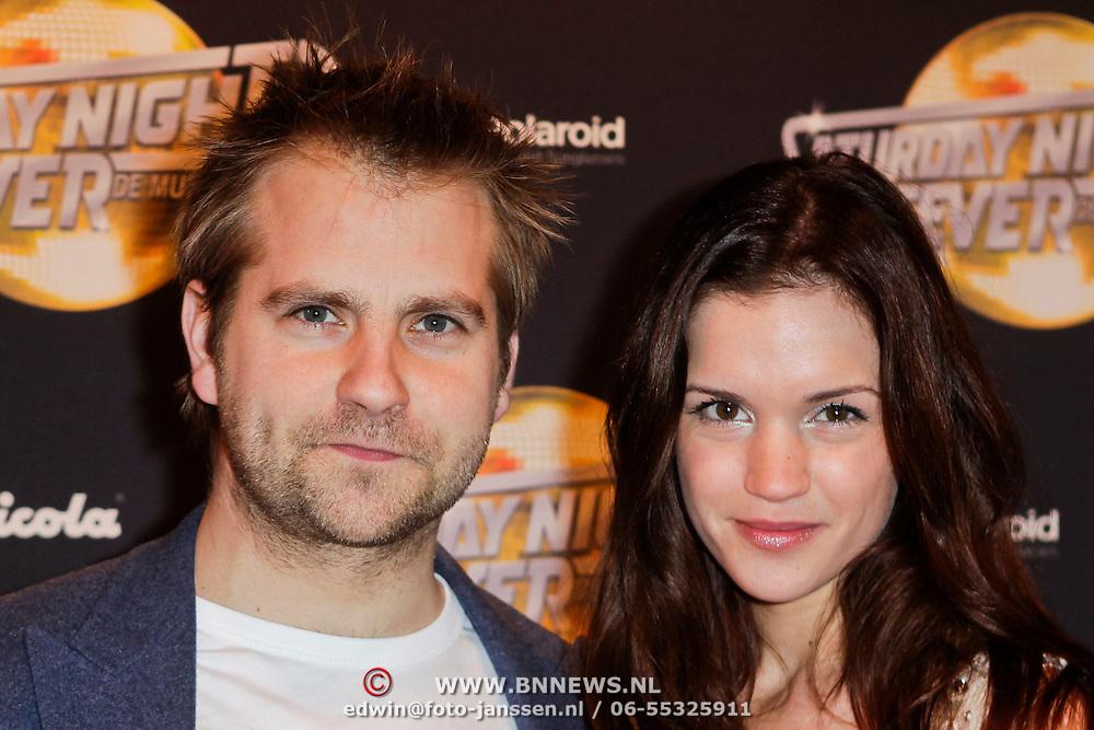 NLD/Amsterdam/20120217 - Premiere Saturday Night Fever, Marly van der Velden en partner Mike Meijer