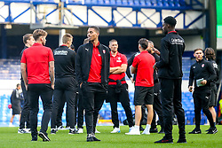 Zak Vyner of Rotherham United checks out the Goodison Park Pitch ahead of his sides Carabao Cup match against Everton - Mandatory by-line: Robbie Stephenson/JMP - 29/08/2018 - FOOTBALL - Goodison Park - Liverpool, England - Everton v Rotherham United - Carabao Cup