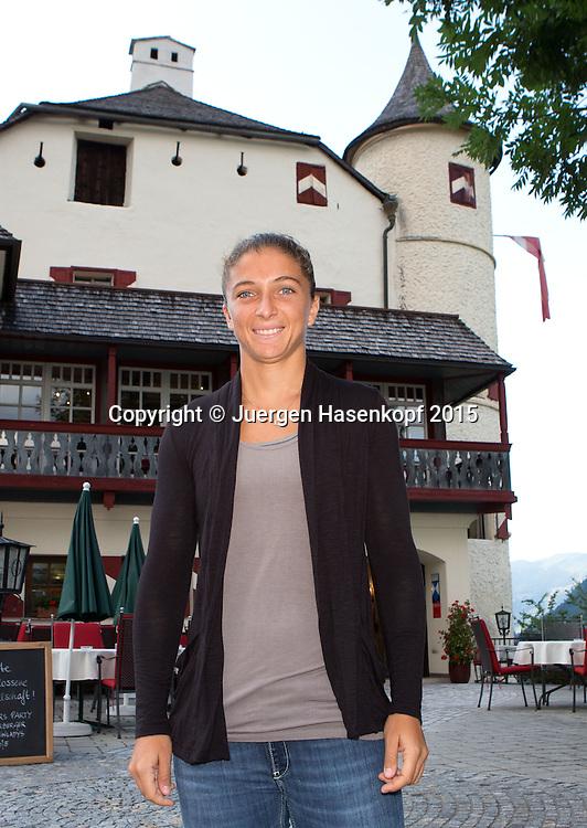Sara Errani (ITA)  vor dem Weitmoser Schloessl in Bad Hof Gastein, Player's Party,privat,<br /> <br /> <br /> Tennis - Gastein Ladies 2015 - WTA -  Europaeischer Hof - Bad Gastein -  - Oesterreich - 21 July 2015. <br /> &copy; Juergen Hasenkopf