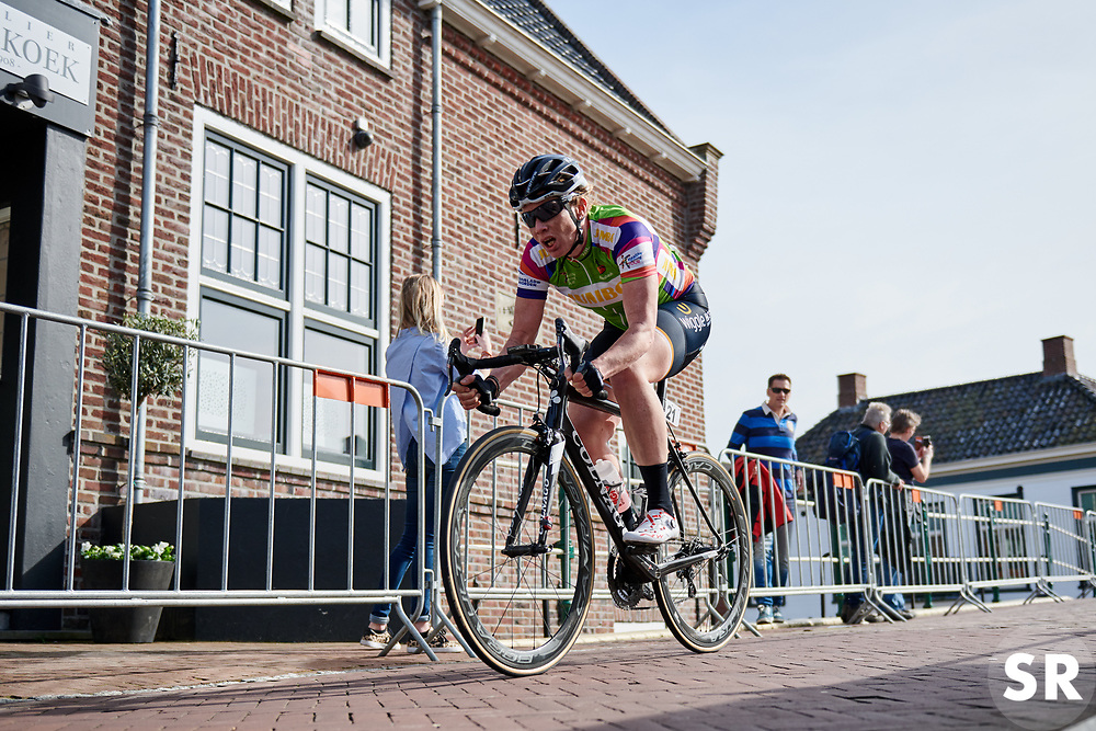 Kirsten Wild (NED) on her way to a second place finish at Healthy Ageing Tour 2018 - Stage 4, a 143 km road race starting and finishing in Winsum on April 7, 2018. Photo by Sean Robinson/Velofocus.com