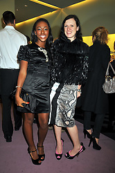 Left to right, ALEXANDRA BURKE winner of X Factor and KATIE GRAND at a party to celebrate the opening of the newly refurbished Prada Store 16/18 Old Bond Street, London on 16th February 2009.