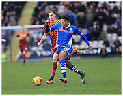 Nathaniel Mendez-Laing during the Sky Bet League 1 match between Bradford City and Rochdale at the Coral Windows Stadium, Bradford, England on 20 February 2016. Photo by Daniel Youngs.
