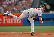 Boston pitcher Curt Schilling during the game between the Atlanta Braves and the Boston Red Sox at Turner Field in Atlanta, GA on June 18, 2007..