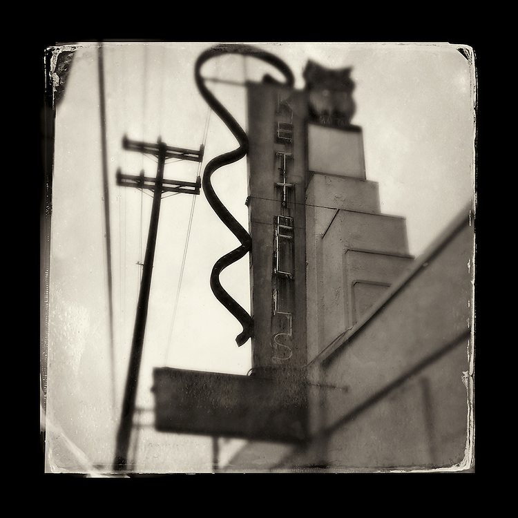 "Charles Blackburn Instagram image of the Kettell's sign in Seattle, WA. 5x5"" print."