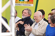 Belo Horizonte _ MG, 17 de Abril de 2008..Visita do presidente Lula nas obras do PAC (Plano de Aceleracao do Crescimento) na Vila Sao Jose, regiao Nordeste de Belo Horizonte....Foto: BRUNO MAGALHAES / AGENCIA NITRO