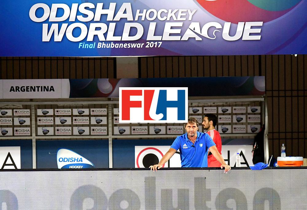 Odisha Men's Hockey World League Final Bhubaneswar 2017<br /> Match id:22<br /> Argentina v Australia Final<br /> Foto: coach Carlos Retegui (Arg) <br /> COPYRIGHT WORLDSPORTPICS FRANK UIJLENBROEK