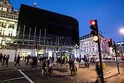 UNITED KINGDOM, London: 17 January 2017 The famous advertising boards of Piccadilly Circus have been turned off to be replaced with a new curved screen in Autumn 2017. This is the first time since the Blitz that the billboards have been turned off for a prolonged period of time. Rick Findler / Story Picture Agency